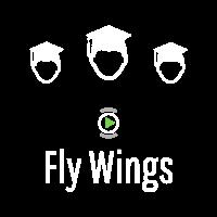 Fly Wings Logo White